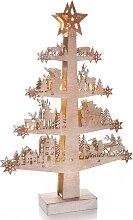 CHRISTMAS GOODS by Inge,LED Baum 10 -flg. /, H:46