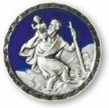 Christopherus-Plakette * nette Geschenkidee * blau, mit Magnet * Grösse:2,6 cm