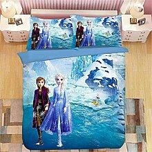 CHRN Disney Frozen Bettwäsche Set 3D Prinzessin