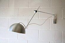 Chrom & Aluminium Wandlampe mit Gelenk, 1970er