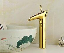 Chrom Farbe antike Badezimmer Hahn mit einem Loch