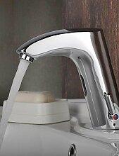 Chrom-Finish Messing Waschbecken Wasserhahn mit automatischer Sensor aktiviert (warm und kalt)