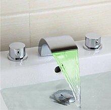 Chrom Led Wasserhahn Spray Tap Wasserfall