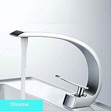 Chrom Waschbecken Wasserhahn Einhand-Auslauf Chrom
