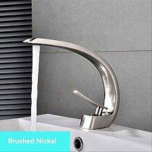 Chrom Waschbecken Wasserhahn Einhand-Auslauf