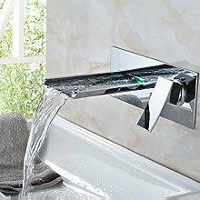 Chrom Wasserfall Bad Waschbecken Wasserhahn mit