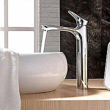 Chrom Wasserhahn Waschbecken mit Wasserfall auf