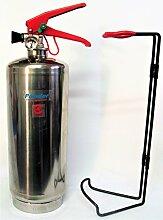 Chrome Finish FSS UK PLUS 2kg ABC Dry Powder Feuerlöscher. CE. Ideal für Haushalte Küche Arbeitsplatz Büros Autos Vans Boote Lager Garagen Hotels Restaurants