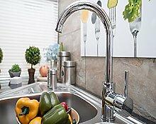 Chrome Niederdruck Spültisch Armatur Einhand Wasserhahn W65