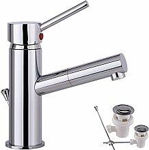 Chrome Wasserhahn Badezimmer / Gäste WC Armatur + ABLAUFGARNITUR WP6