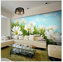 Chrysantheme Blume 3D Wandbilder Für Wohnzimmer