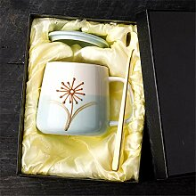 Chrysantheme Kaffee Keramiktasse Mit Deckel