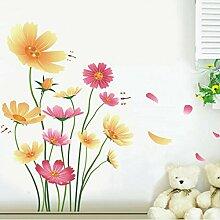 Chrysanthemen Schmetterlinge Libellen Garten Wand Aufkleber PVC Home Aufkleber House Vinyl Papier Dekoration Tapete Wohnzimmer Schlafzimmer Küche Kunst Bild DIY Wandmalereien Mädchen Jungen Kids Kinderzimmer Baby