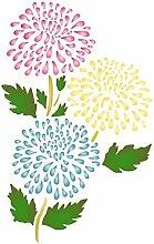 Chrysanthemum Schablone, wiederverwendbar, Flora