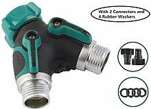 CHSEEO 2-Wege-Verteiler Wasser Geräteanschluss