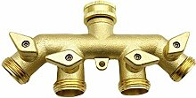 CHSEEO 4-Wege-Verteiler Wasser Geräteanschluss