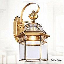 CHSUKHO Kupferwasserdichter kupferner Wandlampe