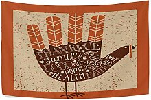 CHSUNHEY Wandteppiche Funny Turkey Quote Tapestry