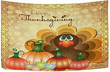 CHSUNHEY Wandteppiche Turkey Harvest Pumpkins