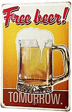 chuanghe3943 Bier Blechschild Nostalgie Dekoration