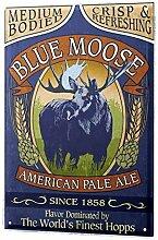 chuanghe3943 Blechschild Bier Nostalgie Blue Elch