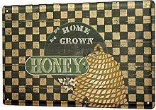chuanghe3943 Blechschild Küche Honeybee