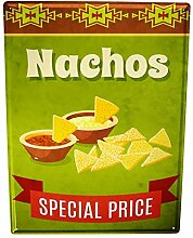 chuanghe3943 Blechschild Küche Nachos