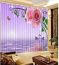 CHUANGLIANGE Dekoration 3D Fenster Vorhänge