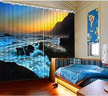 CHUANGLIANGE Gardinen-Foto-3D-Fenster drapiert