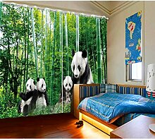 CHUANGLIANGE Kinder Gardinen Grün Bambus
