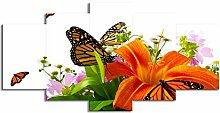 ChuangYing 5 kleine Kunstwerke Lily Schmetterling