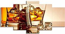 ChuangYing 5 Stück Kunst Whisky EIS Wein Malerei