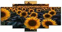 ChuangYing 5 Stücke von Sonnenblumen Wand