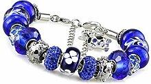 ChuangYing DIY blauen Armband Damen Farbe Glas