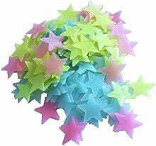ChuangYing Fluoreszierende Sterne Wandaufkleber 3D