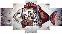 ChuangYing Fünf-Frame Wand Aufkleber Kunst Big