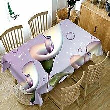 ChuangYing Große Blume Bedruckte Tischdecke