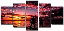 ChuangYing Home Dekoration Aufkleber Flamme Sunset
