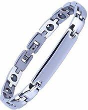 ChuangYing Titan Stahl Armband Edelstahl Magnet