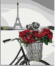 CHUDU Rose Bike Bär Puzzle 1000 Teile Holz