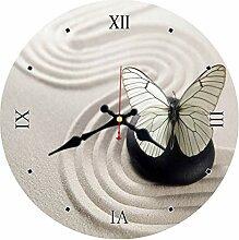 Chuixiaoxiao1 Wanduhr Schmetterling Antike Runde