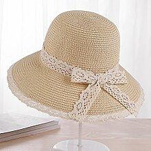 CHUNLAN Sonnenhüte Visier-Hut bequem und Breathable tiefes kakifarbiges, grau, heller kakifarbiger Sonnenschutz UVschutz schöne Mode Stilvoll ( Farbe : Helles Khaki )