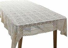 CHUNXU Tischdecke aus 100% Baumwolle, gestrickt,