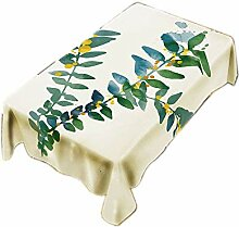 CHUNXU Tischdecke mit Bananenblatt-Muster,