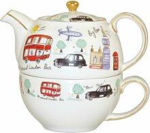 Churchill China James Sadler Teekanne und Tasse