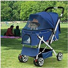 CHUTD Haustier-Kinderwagen für Hunde, Kinderwagen