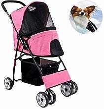 CHUTD Kinderwagen 4 Räder für Hund Katze