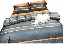 CHX 4 Stück Set minimalistischen Bettwäsche