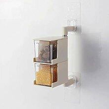 CHX Küche Wand-Regal Gewürzbox Set Gewürzglas