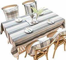 CHYOOO Tischdecken Baumwollleinen Tischdecke